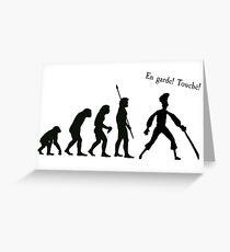 Evolution of insult swordfighting Greeting Card