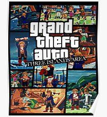 Grand Theft Monkey Poster