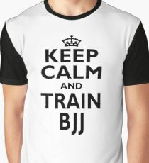 BJJ Sport Gift-Keep Calm and Play BJJ - Funny Birthday Present Graphic T-Shirt