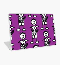 The boy with the spiky hair - dark purple Laptop Skin