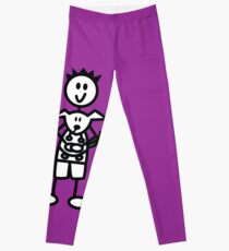 The boy with the spiky hair - dark purple Leggings