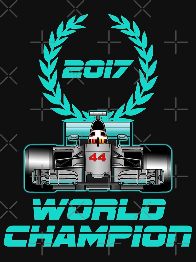 Lewis Hamilton F1 2017 World Champion by ideasfinder