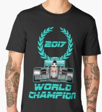 Lewis Hamilton F1 2017 World Champion Men's Premium T-Shirt