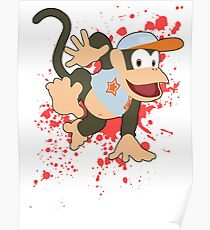 Diddy Kong (Light Blue Alt.) - Super Smash Bros Poster
