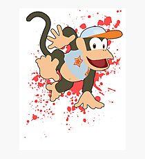 Diddy Kong (Light Blue Alt.) - Super Smash Bros Photographic Print
