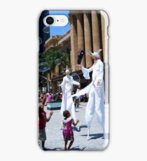 Street performers in white iPhone Case/Skin
