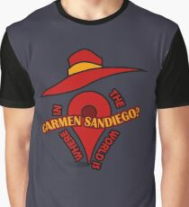 Where in the world is Carmen Sandiego? Graphic T-Shirt