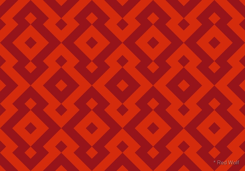 Geometric Pattern: Diamond: Red by * Red Wolf