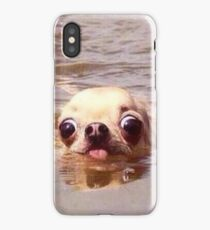 Swimming dog iPhone Case