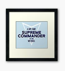 The Supreme Commander Framed Print