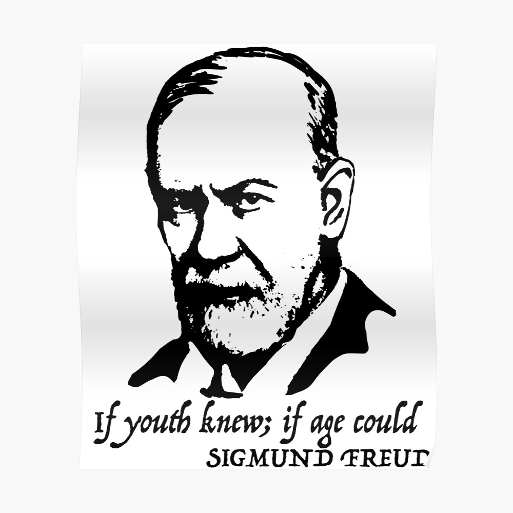 Sigmund Freud Zitat Poster