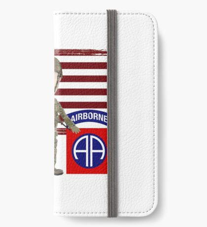 82nd Airborne Division - Proud Veteran iPhone Wallet