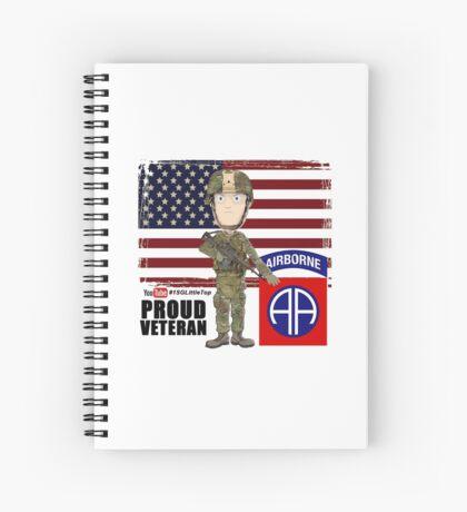 82nd Airborne Division - Proud Veteran Spiral Notebook