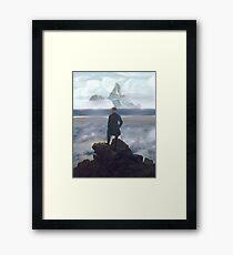 Wanderer above Dinky Island Framed Print