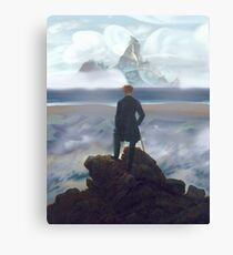 Wanderer above Dinky Island Canvas Print