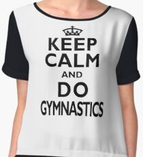 Gymnastics Sport Gift-Keep Calm and Do Gymnastics - Funny Present Women's Chiffon Top