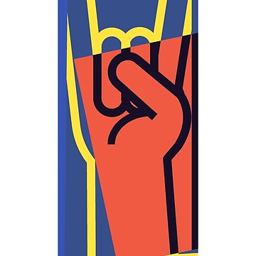 Metal Hand Horns Pop Art by retrorebirth