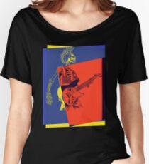 Mohawk Punk Rocker Guitarist Women's Relaxed Fit T-Shirt