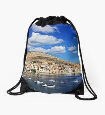 Chalki View Drawstring Bag