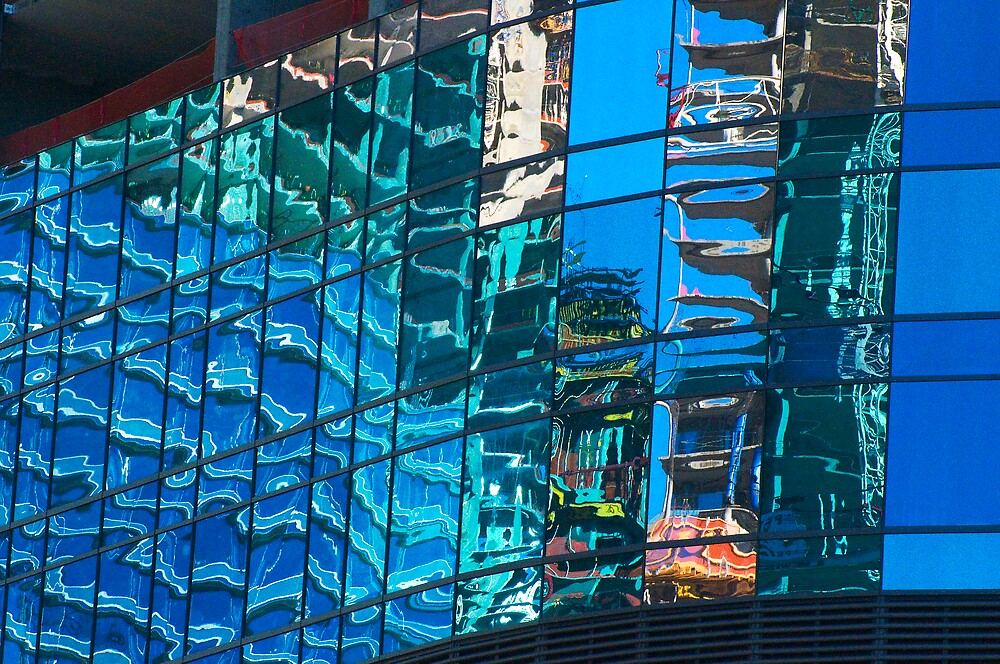 Vegas City Center Reflection by Habenero