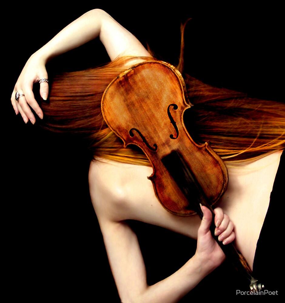Red Violin by PorcelainPoet