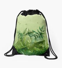 "Mochila saco ""Forest leaves and plants"""