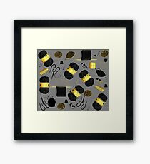 Golden Yarn Framed Print