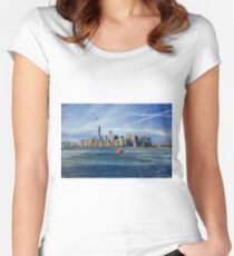 Staten Island Ferry Women's Fitted Scoop T-Shirt