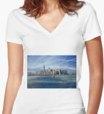 Staten Island Ferry Women's Fitted V-Neck T-Shirt