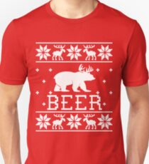 Beer - Ugly Christmas Sweater Design T-Shirt