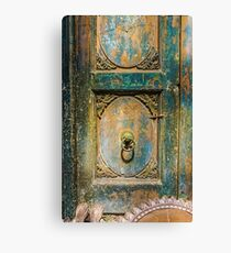 The Weathered Door #architecture #art #decor Canvas Print