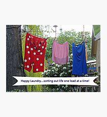 Happy Laundry Photographic Print