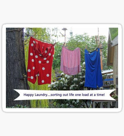 Happy Laundry Sticker