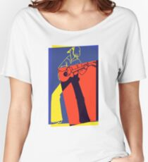 Retro Pop Art Guitarist Women's Relaxed Fit T-Shirt