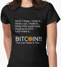 Making Bitcoin Shirt Women's Fitted T-Shirt