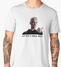 Spike, out for a walk - dark font Men's Premium T-Shirt