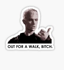 Spike, out for a walk - dark font Sticker