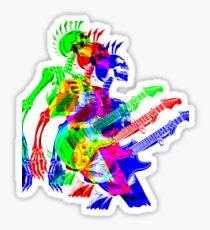Skeleton Guitar Player 4 Sticker