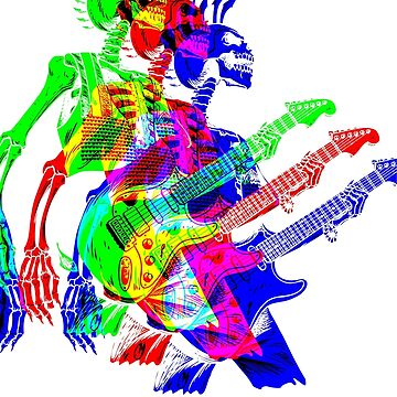 Skeleton Guitar Player 4 by retrorebirth