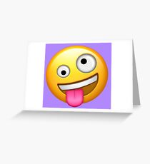 Crazy Face Emoji Greeting Card