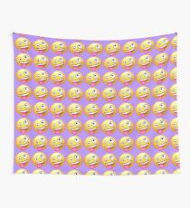 Crazy Face Emoji Wall Tapestry