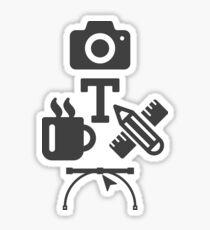 Graphic Designer - Hobbies V.2 Designed by adnananwar.com Sticker