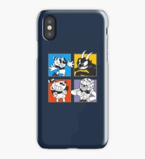 Cuphead colors mosaic iPhone Case/Skin