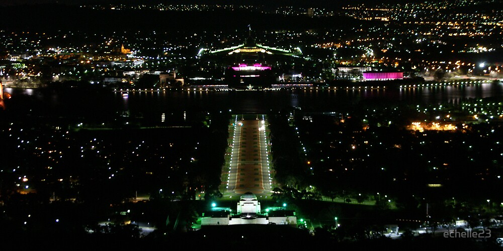 Canberra by Night by echelle23