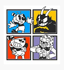 Cuphead colors mosaic Photographic Print