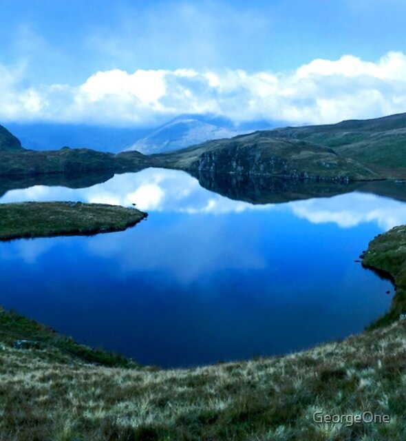 Wild Camping at Angle Tarn, Lake District National Park, UK  by GeorgeOne