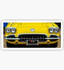 Yellow Corvette Sticker