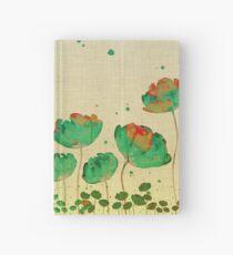 "Cuaderno de tapa dura ""Green flowers & Dots"""