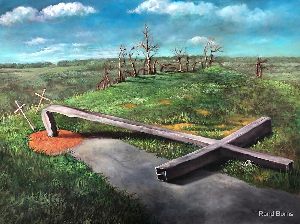 Bent Cross (tornado damage) by Randy Burns