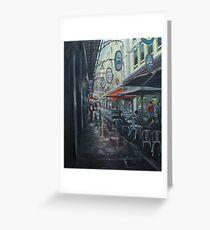 Melbourne Degraves Street Greeting Card